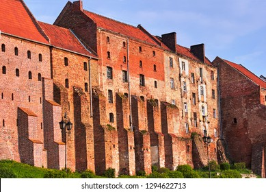 Gothic granary with brick in Grudziadz in Poland