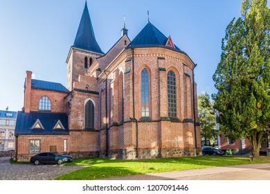 Gothic Lutheran St. John's Church in the historical centre of Tartu, Estonia