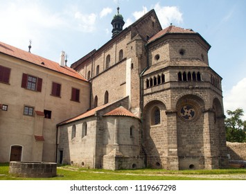 gothic and renaissance Basilica Saint Procopius in Trebic monastery, UNESCO site, Czech Republic