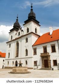 gothic and renaissance Basilica Saint Procopius in Trebic monastery, UNESCO heritage site, Czech Republic