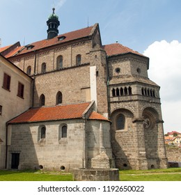 gothic and renaissance Basilica Saint Procopius in Trebic monastery, UNESCO site, Czech Republic