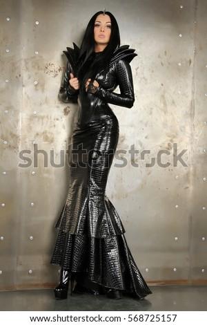 gothic rock black mermaid pvc vinyl stock photo edit now