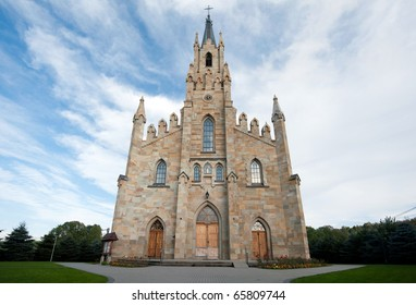 Gothic Saint Jacek stone church in Chocholow, Poland