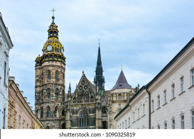 Gothic St. Elisabeth Cathedral (built in 1378-1508) in Kosice, Slovakia