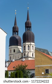 The gothic St. Nicholas' Basilica build in the eastern part of the historical center of Trnava, Slovakia