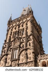 Gothic stone tower