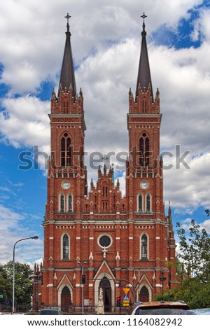 Gothic style architecture sample churh in Poland