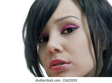 gothic style beauty girl portrat photo