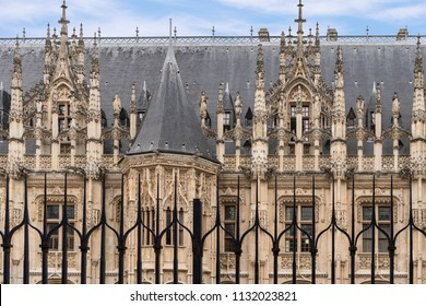 Gothis Style Architecture of Palais de Justice, translated Palace of Justice, Building in Rouen, France