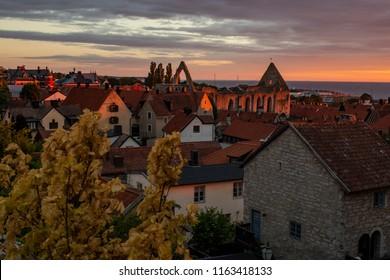 Gotland town evening during Almedalen
