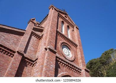 Goto-city, Nagasaki, JAPAN - November 12, 2018: Douzaki Tensyudo (Catholic Church) at Goto-city, Nagasaki on November 12, 2018
