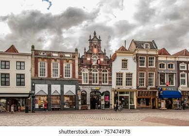 GOUDA - APRIL 28, 2017. Markt square in Gouda, Netherlands