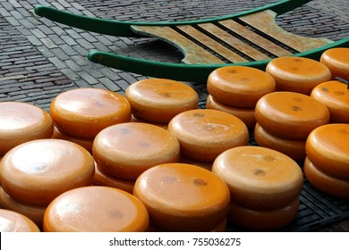 Gouda cheese on market in Alkmaar