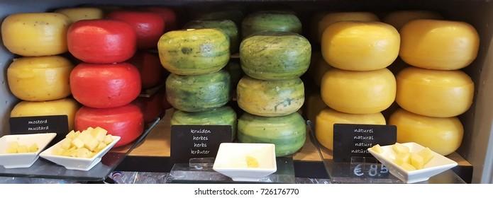 Gouda cheeses in Gouda city
