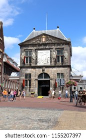 Gouda, Netherlands - July 31, 2018 - De Goudse Waag, Cheese museum in Gouda