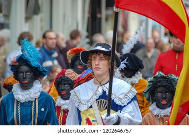 Gouda, The Netherlands - November 18, 2006: parade in the run-up to the typical Dutch annual Sinterklaas party on 5 December.