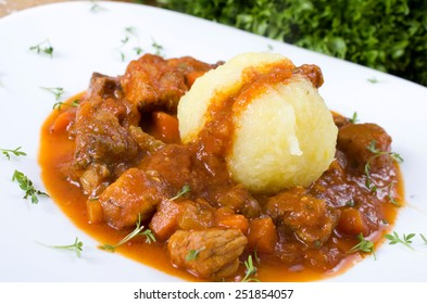 goulash with dumpling