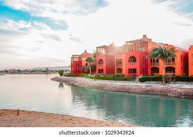 Gouna, Hurghada, Egypt - 2013 - Steigenberger Hotel at El Gouna Resort in Hurghada