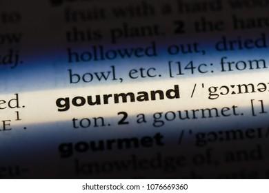 gourmand gourmand concept.