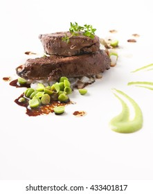 Gourmet Beef liver on white background