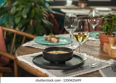 gourmet cuisine in the restaurant