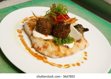 Gourmet falafel - famous middle eastern dish, with a stylish twist