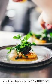 Gourmet food at restaurant