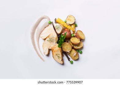 gourmet, food, restaurant, luxury, dish, cuisine, meal, plate, lunch, delicious, cooked, gastronomy, veal, chef, elegant, healthy, background, white, dinner, tasty, appetizer, tuna, asparagus, dining,