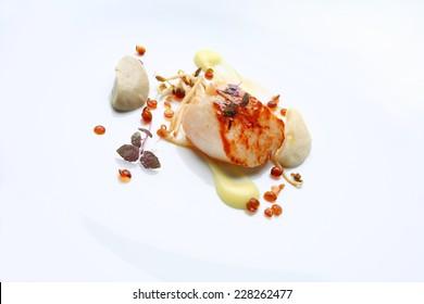 Gourmet food scallop