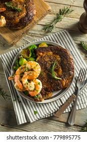 Gourmet Homemade Steak and Shrimp Surf n Turf