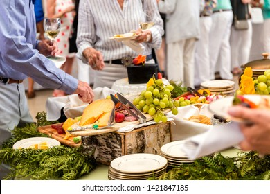 gourmet hors douvres at dinner party