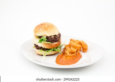 Gourmet Slider with Onion Rings