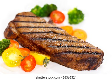 Gourmet Steak with Broccoli,Cherry Tomato,Carrot