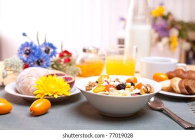 Gourmet summer breakfast