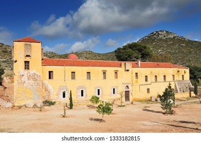 Gouverneto Monastery (Moni Gouvernetou), one of the oldest monasteries in Crete, in Akrotiri Peninsula, Chania Prefecture, Greece.