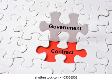 Delightful Government Contract Concept On Missing Puzzle