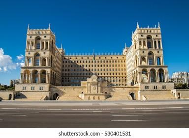 Government house of Azerbaijan in Baku city, Azerbaijan.