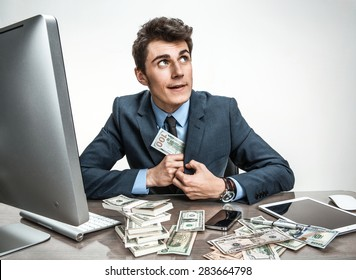 Government official stealing money from taxpayers