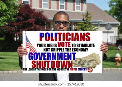 Government Shutdown Sign Ripple Effects