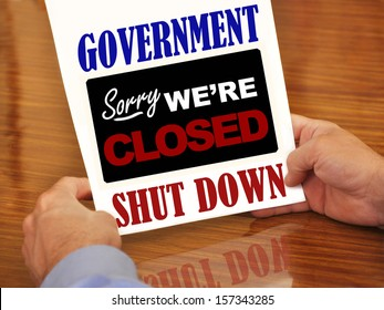 Government Shutdown Sorry We're Closed