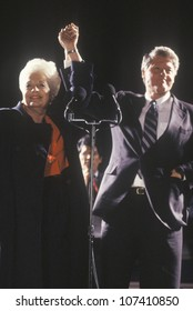 Governor Bill Clinton and Governor Ann Richards at a Texas campaign rally in 1992 on his final day of campaigning, Fort Worth, Texas