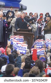 Governor Bill Clinton at an Ohio campaign rally in 1992 on his final day of campaigning, Cleveland, Ohio