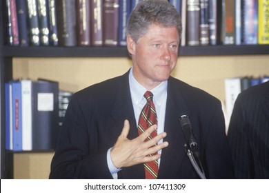 Governor Bill Clinton and Senator Al Gore hold a press conference on the buscapade campaign tour of 1992 in Waco, Texas