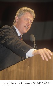 Governor Bill Clinton speaks at a Denver campaign rally in 1992 on his final day of campaigning in Denver, Colorado