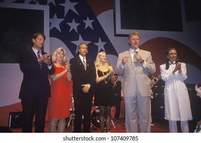Governor Bill Clinton speaks at a reception at Little Rock State House Convention Center in 1992, Little Rock, Arkansas