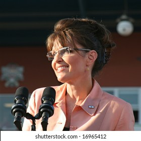 Governor Sarah Palin in Washington, Pennsylvania on August 30, 2008