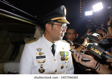 Governor of West Java Mr Ridwan Kamil  answer ask from Jurnalist at Jakarta, Mei 9, 2018