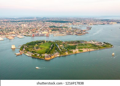 Governors island of New York aerial view