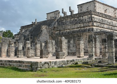 The Governor's Palace (a thousand columns). Mayan archeological site of Chichen Itza, Yucatan, Mexico.