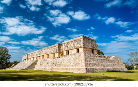 Governor's Palace at the ancient Maya city of Uxmal in Mexico